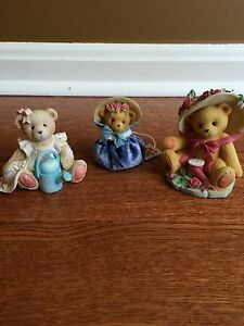 """Lot Of 3 Cherished Teddies- June,Janet & """"your sweet as a rose"""""""