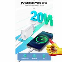 Cargador rápido PD de 20W para iphone 12 Pro Max QC3.0 Apple 11 Samsung y HUAWEI