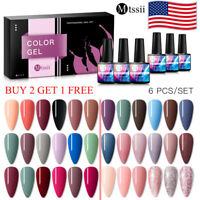 MTSSII Large 6 Bottles/Set Gel Nail Polish Soak Off UV/LED Manicure Varnish 8ml