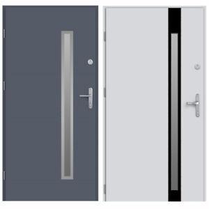 Tür LAK Außentüren Haustür Eingangstür Stahltür 80 90 100 Weiß Braun Anthrazit