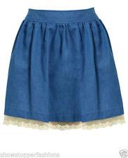 Gonne e minigonne da donna blu in cotone taglia 42