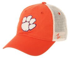 CLEMSON TIGERS NCAA ORANGE MESH SLOUCH TRUCKER SNAPBACK Z WASHED CAP HAT NWT!