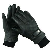 UNISEX TOUCHSCREEN FINGER MOTORBIKE/ MOTORCYCLE GLOVES 100%GENUINE LEATHER RAXID