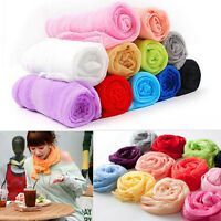 Women Girl Candy Color Long Soft Silk Chiffon Neck Scarf Wrap Shawl Scarves GX