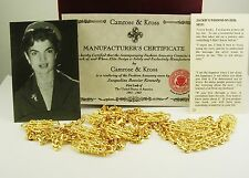 Jackie Kennedy Paper Clip Necklace (comes w/certificate and original felt box)
