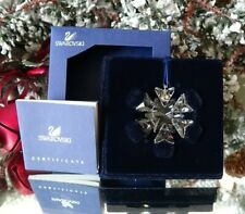 2007 Mib Swarovski Annual Little Christmas Ornament Star/Snowflake #884869