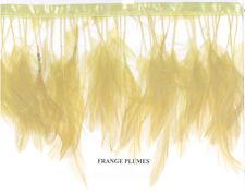 1 mètre de franges en plumes beige sur ruban satin spectacle mercerie couture