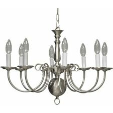 Volume Lighting 8-Light Brushed Nickel Chandelier, Brushed Nickel - V3558-33