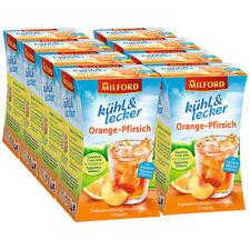 Milford kühl & lecker Orange-Pfirsich, 20 Teebeutel 8er Pack