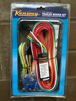 25ft 4 Way Trailer Wiring Kit Complete w Male & Female 4-Flat+4' Connector 14AWG