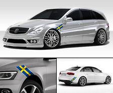 "24"" Vinyl trim Sweden Swedish flag strip sticker decals hood bumper car"