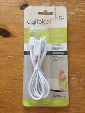 Digitalpal USB Printer Cable 1.5m Type A Male to B Male cable White USB 2.0