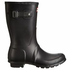 Hunter Original Short Black Womens BOOTS - Wfs1000rma BLK UK 3
