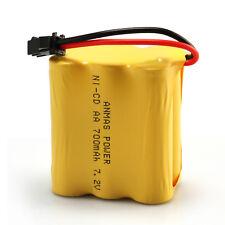 1pcs Ni-Cd AA Toy Car SM 2Pin Plug 7.2V 700mAh RC Rechargeable Battery Yellow