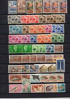 119 timbres cote des Somalis / Djibouti neufs * multiples , bloc de 4