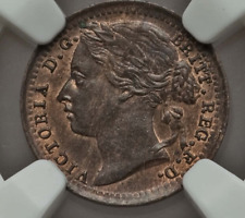 More details for 1885 1/3 farthing victoria minor coin great britain ms62 rb ngc one third uk
