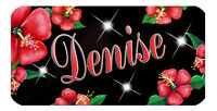"""Red Hibiscus Decal Bumper Sticker Personalize Gifts Ladies Girls Size Flowers 6"""""""