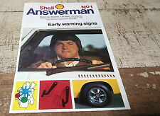 1970s  SHELL ANSWERMAN Care Car Booklet FIRST ISSUE - RARE