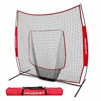 PowerNet Baseball and Softball Practice Net 7 x 7 with Bow Frame & Carry Bag