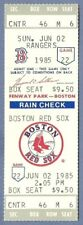 Jim Rice HR 314 full season ticket June 2 1985 HOF Red Sox Boggs