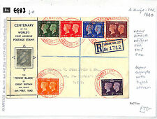 Red Cross Great Britain George VI Stamp Covers (1936-1952)