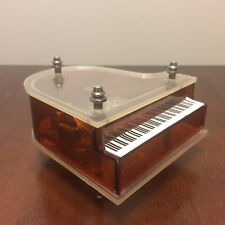 """Vintage Lucite Grand Piano Music Box """"Raindrops Keep Falling On My Head"""""""