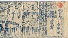 JAPAN: ANTIQUE BIRDS-EYE VIEW TOURIST MAP OF TENDO, YAMAGATA & DEWA MOUNTAINS