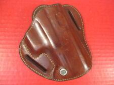 Custom Brown Leather Belt Slide Holster for the Glock Model 17  Pistol