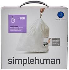 100 Simplehuman Code J 30-40l Bin Bags Liners CW0238