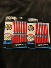 BOOMCo Soft Extra Darts 32 Smart Stick Darts - Red With Blue Tips BBR42