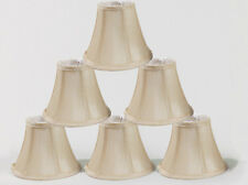 "Urbanest Cream Chandelier Mini Lamp Shades Set of 6, Soft Bell 3""x6""x5"" Clip on"