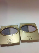 2 X L'Oreal Wear Infinite Eye Shadow Duo Spring Violet #512 NEW.