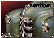 AUSTIN Letrero de metal, BRITISH coches clásicos, Entusiasta, retro