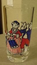 BORDEN MILK ELSIE THE COW AND FAMILY PATRIOTIC DRINKING GLASS / TUMBLER  EC vtm