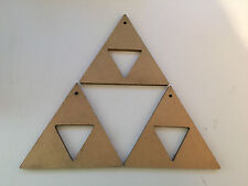 Zelda Triforce Christmas Tree Decorations Set of 3 in Gold SNES NES Game Boy N64