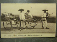 cpa 69 lyon exposition internationale 1914 pouss pouss chinois
