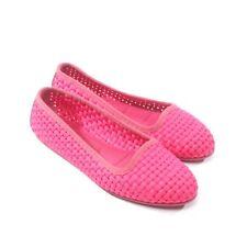 MONCLER Ballerinas Gr. D 37 Rot Damen Schuhe Halbschuhe Flats Slipper Shoes