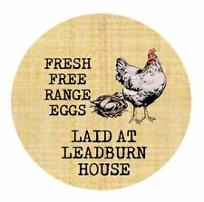 Personalised Egg Box Labels Custom Egg Boxes Printed Sticky Labels Chicken Hen
