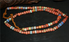real old antique african trade glass beads chevron red necklace africa venetian