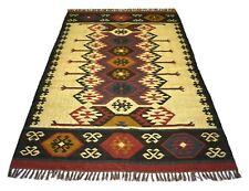 Handmade Traditional Multi Jute Area Rug Rectangle Home Decor Carpet 5x8 Feet