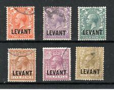 British Levant 1921 GB opt values to 1s FU CDS