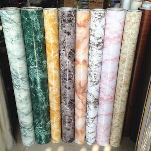 Marble Self Adhesive Wallpaper Vinyl Worktop Cover Kitchen Cabinet Cupboard Wrap