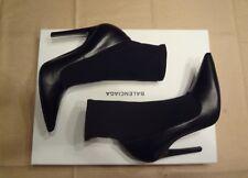 *BNIB* BALENCIAGA - Slash Heel Sock Leather Boots 40