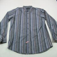 Bugatchi Uomo Mens Button Up Classic Fit Shirt Checks XL Classic Casual Stripes