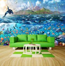 Wall Mural Photo Wallpaper Fishes & Turtles Tropical Sea Ocean Life 335x236cm
