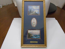 "Thomas Kinkade ""Hope"" Framed Decorative Art Prints 2 Lighthouses with John 1:5"