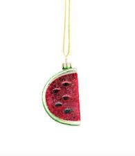 "Blown Glass watermelon slice fruit Ashland Christmas Ornament  New NWT 2.5"""