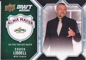 CHUCK LIDDELL '09-10 Upper Deck NBA Draft Ed. Alma Mater Insert Blue Var. #47/99