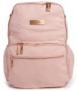 Ju Ju Be Chromatics Zealous Backpack Baby Diaper Bag Blush NEW