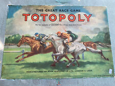 Vintage Waddingtons Totopoly Horse Racing Board Game